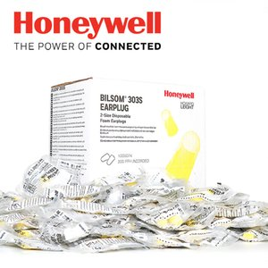 200Pairs / Box Honeywell 303S Weichschaum CottonEarplugs 29dB Noise Reduction Rating Arbeits Schlaf Noise-Cancelling Earplugs Dividuelle Verpackung