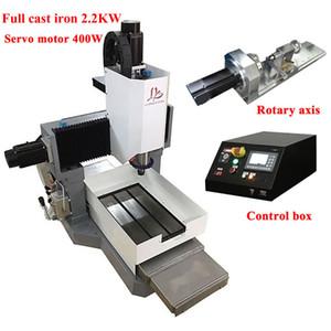 hierro fundido CNC completo 3040 enrutador fresadora de metal grabado 2200w 4Axis servo de control de motor del eje Z altura 250 mm fuera de línea