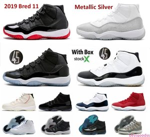 2019 bred 11 basketball shoes metallic silver 11s prom night cap and gown space jam concord legend gamma blue cool grey UNC win like 82 96