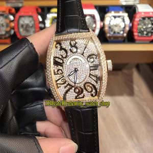 Alta Qualidade Luxry New LOUCOS HORAS 8880 Diamonds CH Dial Japão Miyota Automatic Mens Watch Case Gold Diamante Rose pulseira de couro Gents Relógios
