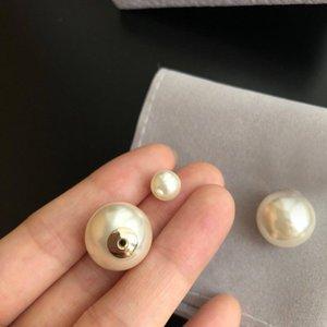 Marque de mode Demandez des timbres Boucles d'oreilles perles pour Dame Femmes Party Lovers Wedding Wedding Engagement Bijoux de luxe pour la mariée HB17