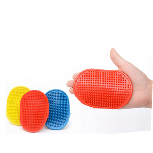 3 color Round pet bath brush massage brush adjustable dog cleaning gloves pet supplies Dog Grooming T2I5930