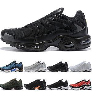 Tn Plus Men Women Running Shoes Run Sneakers Greedy Oreo Triple Black White Silver Bullet Mens Trainer Athletic Sport Size 40-45 Online Sale