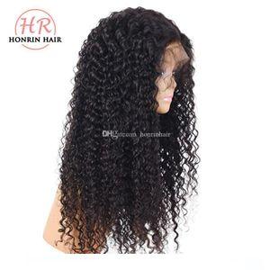 L Honrin волос Deep Фигурные 360 парики шнурка малайзийских волос Pre щипковых отбеленные Сучки Virgin человека 180% Плотность Полный парики шнурка фронта шнурка Wi