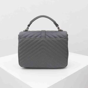 retro borsa della pelle bovina sacchetto di modo oro argento hardware hardware borsa delle signore sacchetto di vibrazione del cuoio diagonale crossbody con BOX