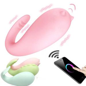 Smart Sex App Vibrador Control Remoto Vibrante Vagina Dildo Clítoris Estimulación Masturbación Adultos Juguete Sexual Para Mujeres Pareja Y190722