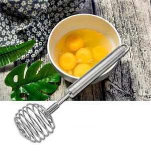 Manuel acier inoxydable Fouet à la main Egg Mixer Blender Eggbeater Agitation Batteur Crème Frother Farine Agitateur Outils de cuisine JK1911