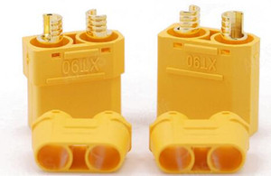 XT90 배터리 커넥터 세트 4.5mm 남성 여성 골드 도금 바나나 플러그