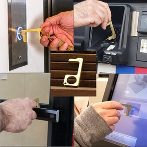 alaşım anahtar emniyet koruma izolasyon temassız Basın Asansör Aracı LJJA4060 çinko Asansör düğmesine temassız Aracı aç emniyet kapı kolu