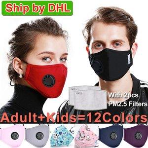 Maschera facciale lavabile Respiratore riutilizzabile antipolvere PM2.5 Maschere con 2 filtri protettivi a carbone Maschere facciali ffp2 Lavabili
