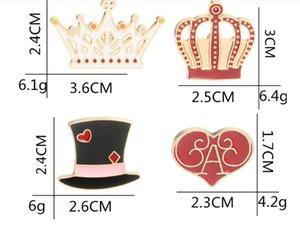 Das Senhoras New Designer's Hot-venda de Jóias Dos Desenhos Animados Encantador Cavalheiro Cap Coroa Amor Europeus e Americanos Moda Broche Acessórios