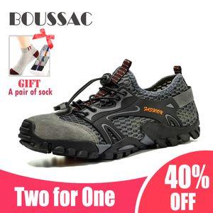 Boussac 39-46 Sapatos de escalada altos e acionáveis 4 estações de alpinismo Sapatos seguros e não escorregadios