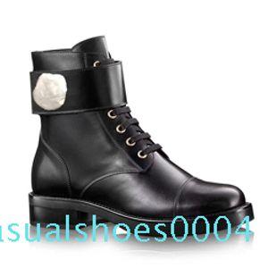 Martin boots designer Women flamingos Love arrow medal 100% real leather Desert Boot US5-11 Winter Metal buckle luxury woman c04