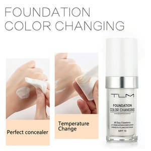 TLM 30ml Color Changing Liquid Foundation Oil-control Concealer Cream Hydrating Long Lasting Makeup Foundation Base BB TSLM1