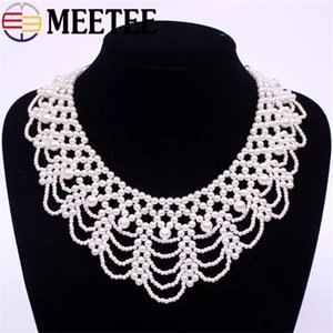 Version coréenne perle creuser faux collier dames chemise rétro perle décoration douce collier poupée vêtements accessoires de bricolage ZK769