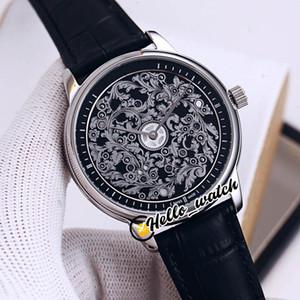Luxury New Art Master P1100A / 000P-B026 orologio da uomo automatico nero 3D intagliato quadrante in acciaio custodia in acciaio nero cinturino cinghia orologi iaro_watch