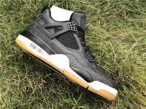 2018 nouveaux 4s Doodling Men Outdoor Pure Shoes argent Premium Black Cat ciment blanc Bred rouge feu baskets Autres