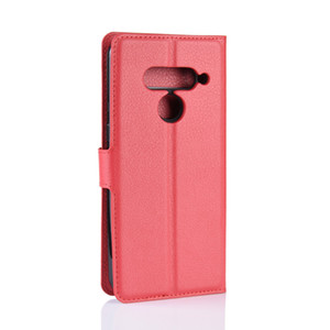 lychee wallet leather TPU phone cases card holder cover Case For LG G7 fit Q7 V50 V40 ThinQ 5G X Power 3