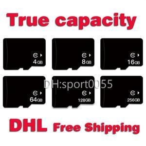 100pcs real Capacidade Cartão de Memória Cartão Micro SD de 16GB 32GB 64GB 128GB 256GB Classe 10 Cartão MicroSD de 4GB 8GB Nível 4 High Speed Monitor