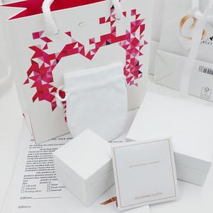 Высокое качество розовые бриллианты сердце шкатулки для ювелирных изделий упаковочные наборы подходят Pandora ожерелье браслет кольца серьги подвески оригинальная коробка