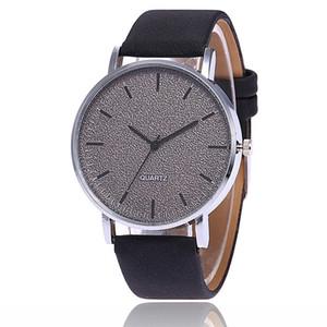 Orologi da polso in pelle moda semplice Quadrante argento grande orologio al quarzo digitale Studenti regalo donna orologi all'ingrosso