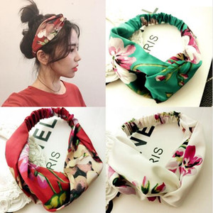 Donne Ragazze Estate Bande di Capelli Bohemian Stampa Imbraggi Retro Cross Cross Turban Bandanas Bandanas Hairbands Accessori per capelli Accessori per capelli