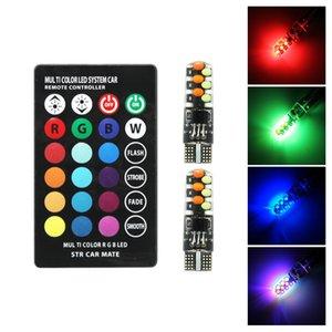 ANBLUB многоцветный LED T10 W5W COB автомобильный габаритный фонарь 12 в 194 168 пульт дистанционного управления RGBW авто интерьер свет атмосфера лампы