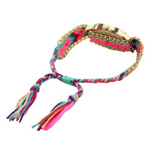 Bracelets 2019 Womens Handmade Friendship Rope Chain Multilayer watch Analog Quartz Wristwatch Women Bangle Jewelry DropShipping