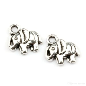 Hot ! 200 Pcs Tibetan Silver Elephant Jewelry Charms Pandents DIY Accessories 16mmx13.5mmx3mm Fit Bracelets Necklace Earrings