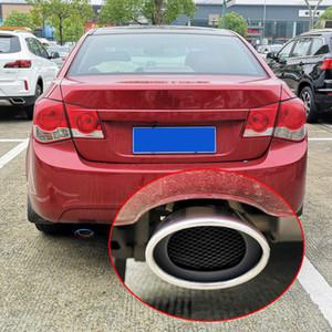 Chevrolet Cruze 2009 2010 2011 2012 2013 2014 Styling Gümüş Paslanmaz Çelik Araç Susturucu sonu Boru Mavi Egzoz İpuçları