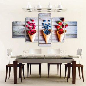 Ice cream Canvas Wall Art Pictures for Kitchen Dining Room Wall Decor Artwork Large Wall Art for Living Room Unframed