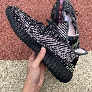 Moda 2020 hombres del diseñador de las mujeres Kanye a correr los zapatos de baloncesto de la zapatilla de deporte de lujo de plataforma para hombre zapatillas calcetín blanco