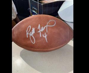 Kapı Futbol topu dışarı BRETT FAVRE İmzalı Signed signatured ABD Amerika rugby Milli Futbol Lig spor kapalı /