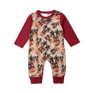 Nouveau-né bébé fille Vêtements de Noël Noël Cerfs Romper Pyjama Outfit Jumpsuit One-Piece Vêtements de Noël