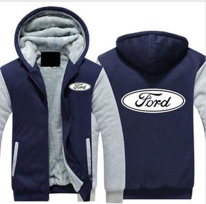 Ford Car AUTO толстовка женщины мужчины молнии толстовки с капюшоном уличная негабаритных теплый Woo lLinner сгущает бейсбольная куртка спортивный костюм