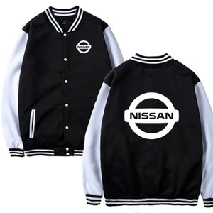 Uniforme de béisbol para hombre de la chaqueta de automóvil Nissan Impreso béisbol de los hombres de moda camisetas ocasionales de Hip Hop Harajuku Slim Fit unisex Clothin