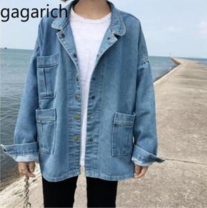 Gagarich 2019 Jean Veste Femmes Printemps Automne manches longues Jeans Cowboy Casual casaque