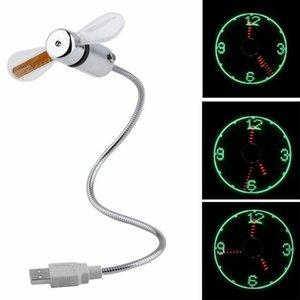 Новый Прочный регулируемый USB Gadget Мини Гибкая светодиодная USB Вентилятор Time Clock Desktop Clock прикольный гаджет реального времени дисплей высокого качества