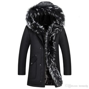 High Quality Men's Winter winter down jacket men coat jacket with fur hood Removable parka men coat masculine down jacket Plus Size 4XL 5XL
