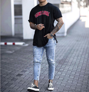Ninth Designer Mens Jeans Hole High Street Washed New Summer Fashion Cool Casual Urban Wind Hot Sale Pencil Jeans
