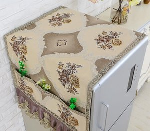 Fyjafon Refrigerator Covers Dust Cover Decor Printed Kitchen Dustproof Covers With Storage Bag 55*130 60*180 70*180