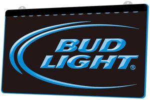 LS0006 Bud Lite Beer Bar Pub Kulübü RGB Çoklu Renk Uzaktan Kumanda 3D Gravür LED Neon Işık Dükkanı Bar Pub Club Sign