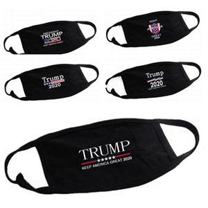 Trump Cotton Gesichtsmasken Schwarz Radfahren Anti Staub-Frau-Mann-Unisex Designer Masken Art und Weise gedruckte Schwarz waschbare Gesichtsmaske 5 Styles FY9122