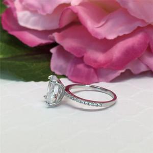Coppia Splendida anelli gioielli Size 5-12 Colomba ovale uovo tagliato CZ bianca Anello cubico zircone Eternity Diamond Wedding Band Ring Engagement