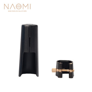 NAOMI Leather Ligature Fastener With Plastic Cap For Tenor Sax Saxophone Mouthpiece Tenor Saxophone Wood Wind Parts Accessories