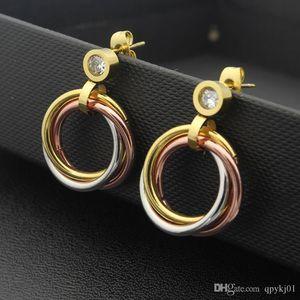 316L Titanium steel stud Earring Luxury mix color Brand Women Charm love Earrings Fashion Jewelry wholesale