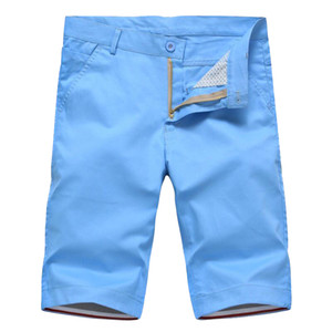 WOQN Shorts Hommes 201Summer Shorts Hommes Casual Mode Coton Slim Masculina Beach hommes Bermudes Pantalons Longueur du genou