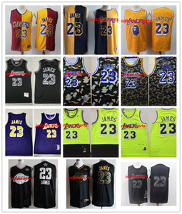 Mens LeBron 23 James LosAngelesLakersThrowback Basketball Jersey James Honor City Vintage MVP Edition Basketball Jerseys