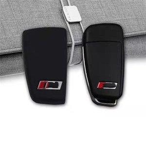 S3 RS couvercle arrière logo boîtier clé pour Audi A3 S3 Q3 A6 L TT Q7 R8 clé de voiture à trois boutons shell clé modifiée manches