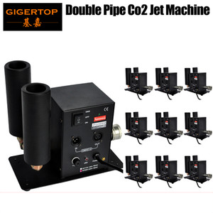 10Pcs Lot Double Nozzle Co2 Jet Machine High Quality DMX 512 CO2 Jet 6M Hose Free Shipping 90V-240V Cryo CO2 Jets shot 90V 240V TP-T27B